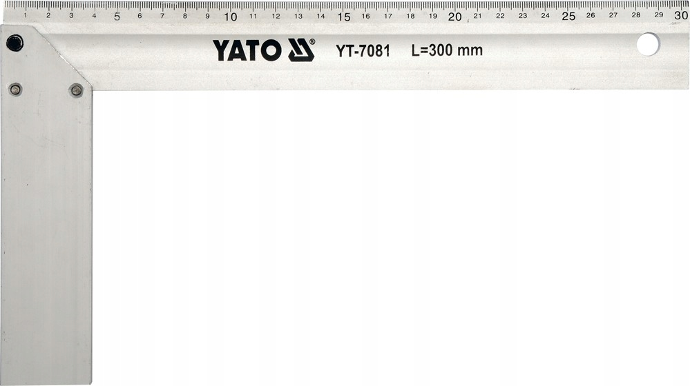 Kątownik aluminiowy 250 mm. YT-7080 YATO
