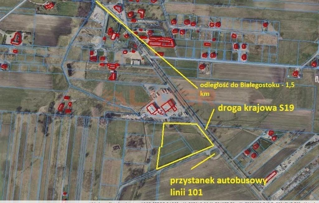 Działka, Kuriany, Zabłudów (gm.), 20485 m²