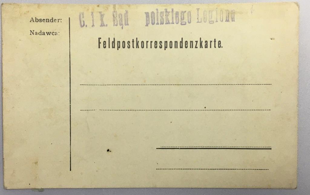 C. i k. Sąd polskiego Legionu - Feldpost Karte
