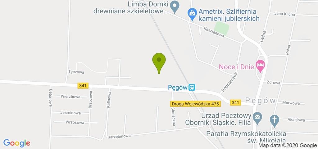Działka Pęgów, trzebnicki, 5200,00 m²