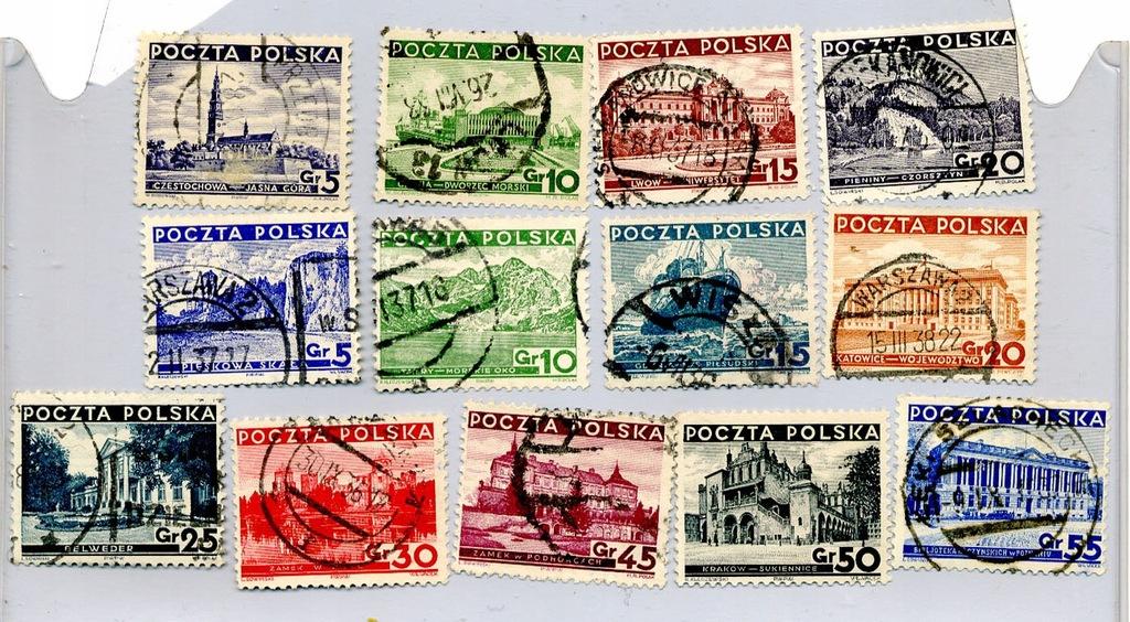 Zestaw 1935 - Różne widoki (280-288) i (294- 297)