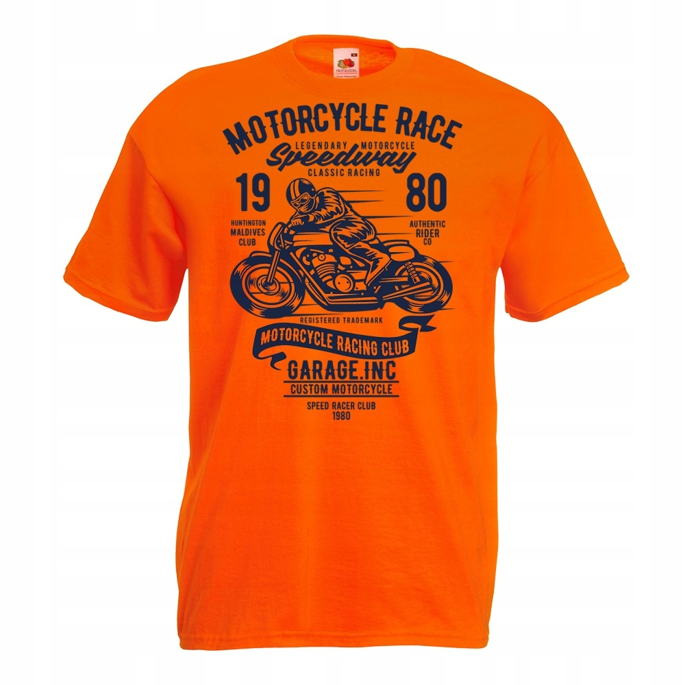 Koszulka motocykl motor motocyklista kask S pomara