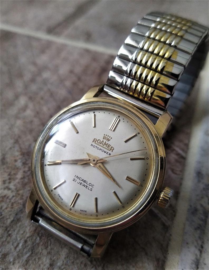 Pozłacany zegarek 20mic ROAMER AUTOMATIC 21 Jewels
