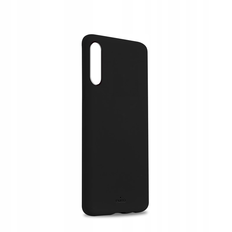 PURO ICON Black Silikonowe Etui Case do Galaxy A50