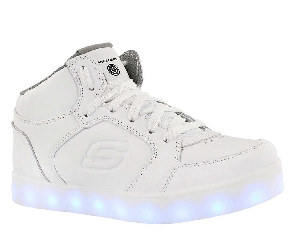 Świecące Buty Dziecięce Skechers 90600LWHT r.39,5