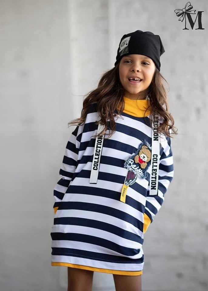 MALA MI bluza tunika w pasy r. 98/104