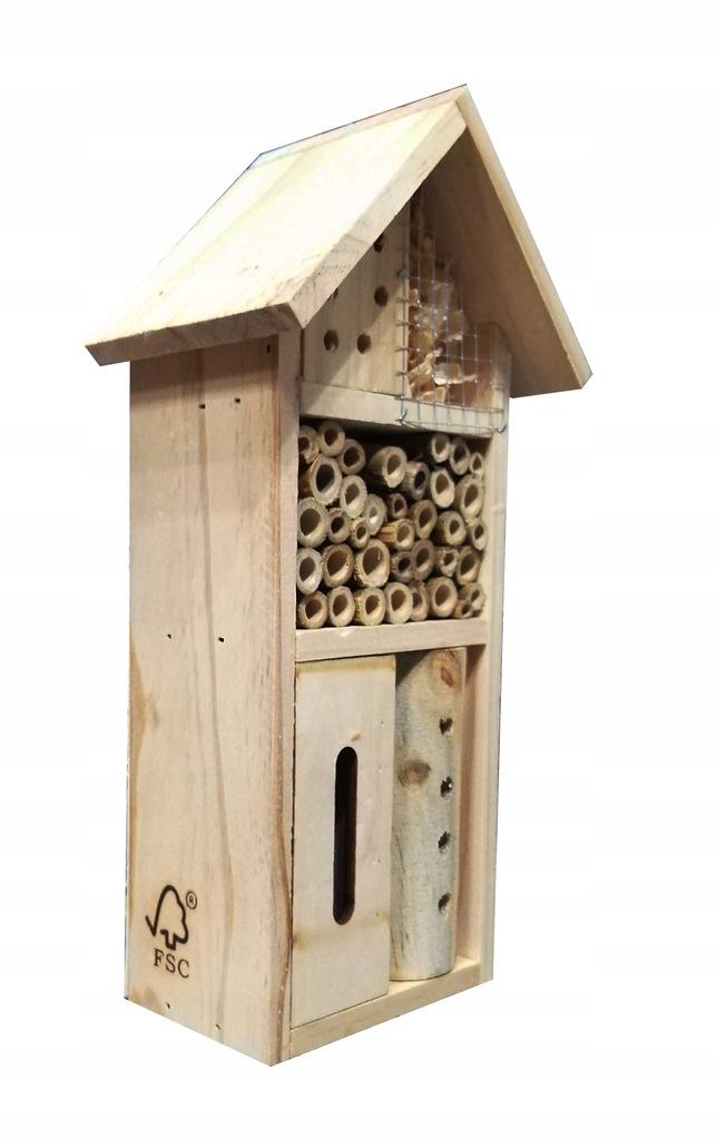 DOMEK dla OWADÓW pszczół HOTEL budka KARMNIK