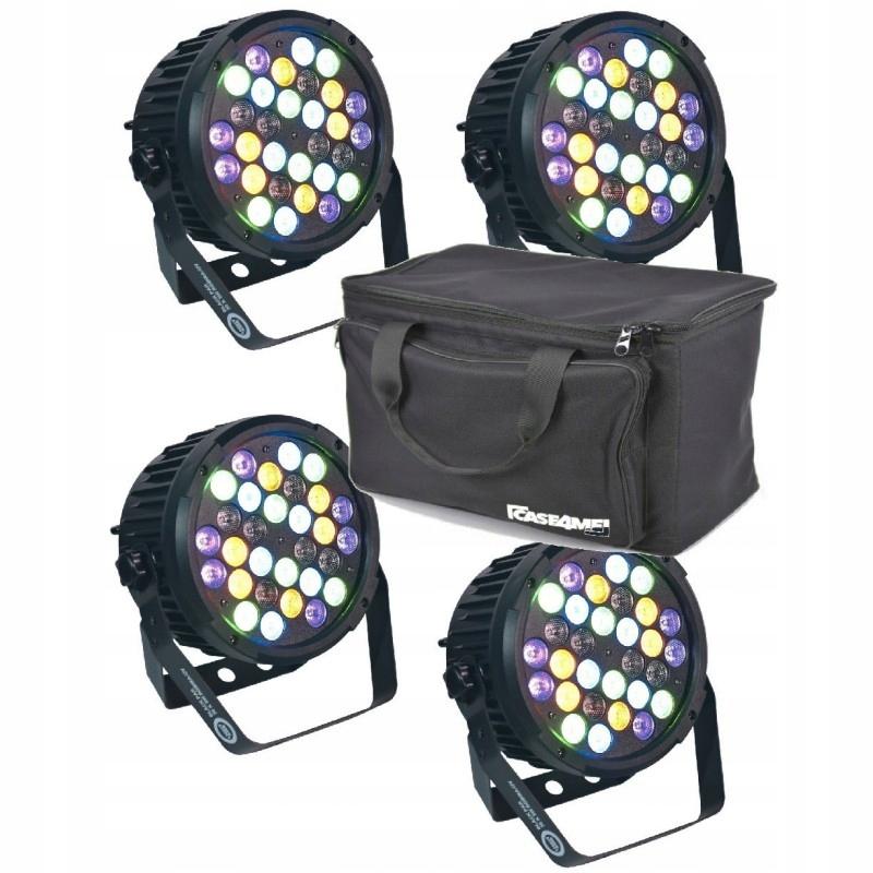 LIGHT4ME BLACK PAR 30x3W RGBA-UV LED MOCNY SET