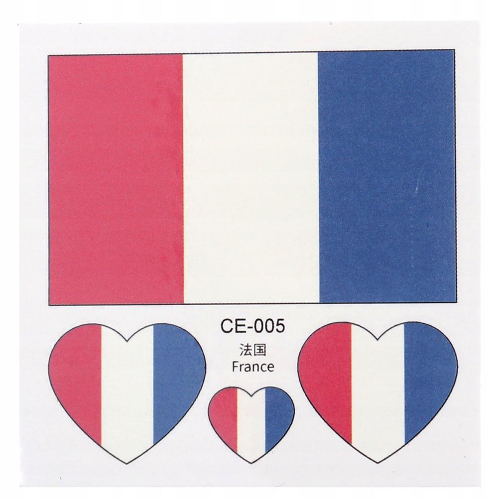 20 sztuk Flaga narodowa Jednorazowe naklejki Wodoo