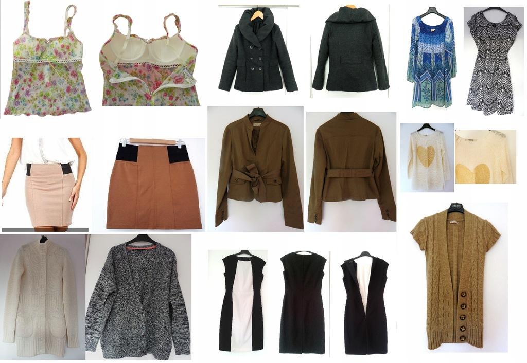 Paka ubrań damskich rozm 34 36 swetry sukienki