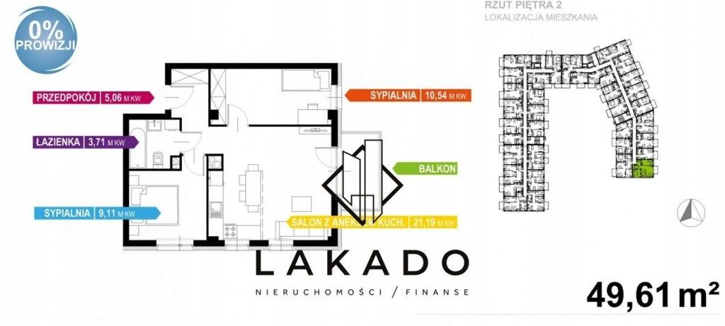 Mieszkanie, Kraków, Krowodrza, 50 m²