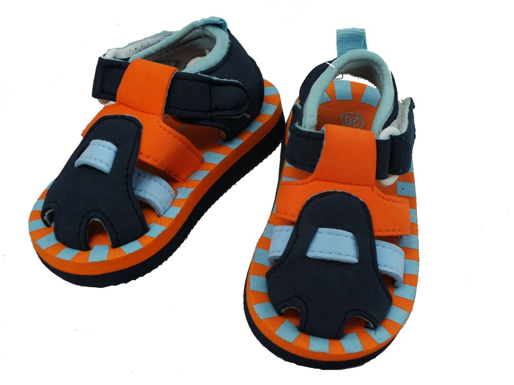 Sandałki piankowe plażowe sandały lekkie rzepy 20