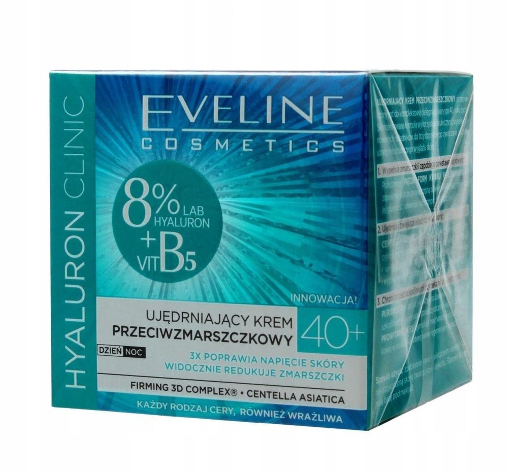EVELINE HYALURON CLINIC 40+ UJĘDRNIAJĄCY KREM