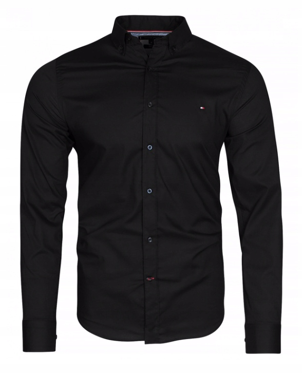 Koszula męska Tommy Hilfiger TH Slim czarna XXL