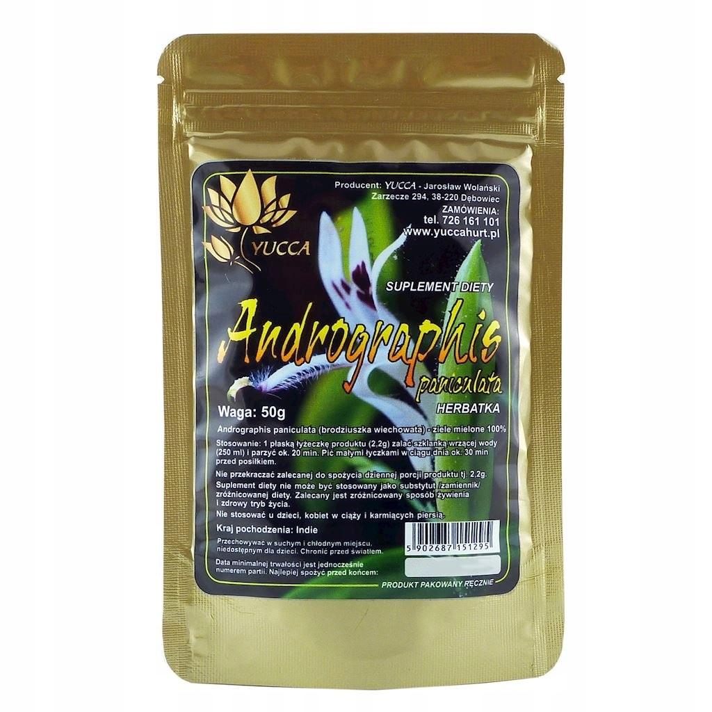 YUCCA Andrographis Paniculata - ziele mielone 50g