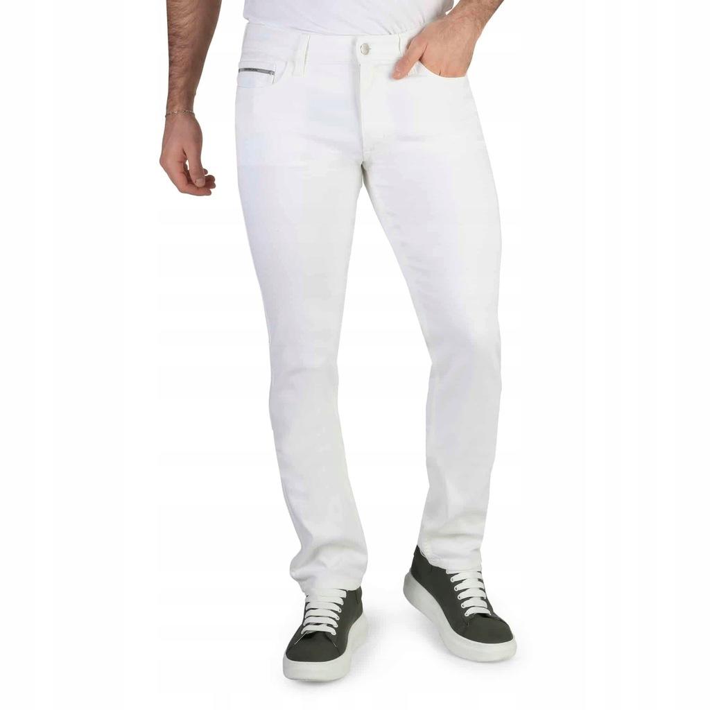 Spodnie - Calvin Klein - J30J304952 - Biały 34