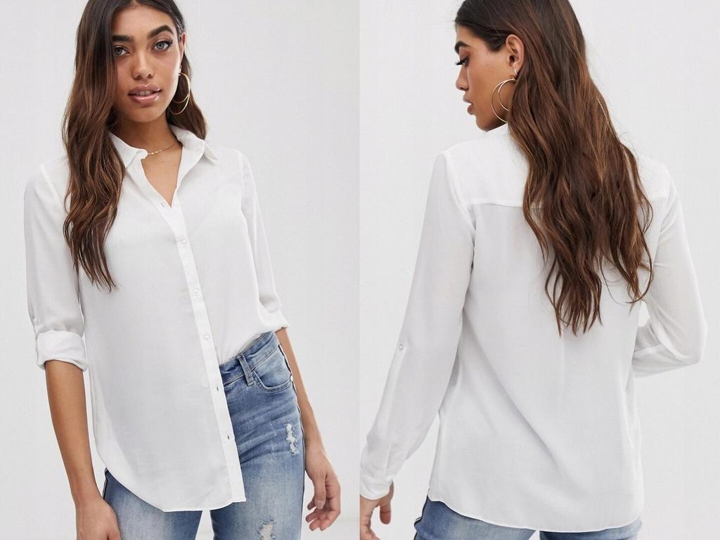 Lipsy - Prosta koszulka w kolorze białym M/38