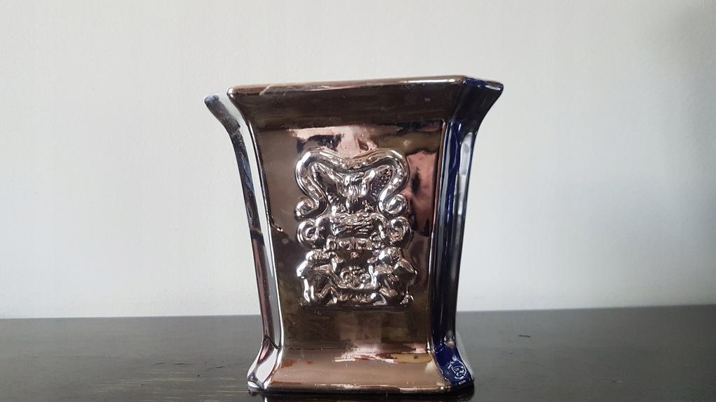 Ceramiczna Doniczka w kolorze srebra art design