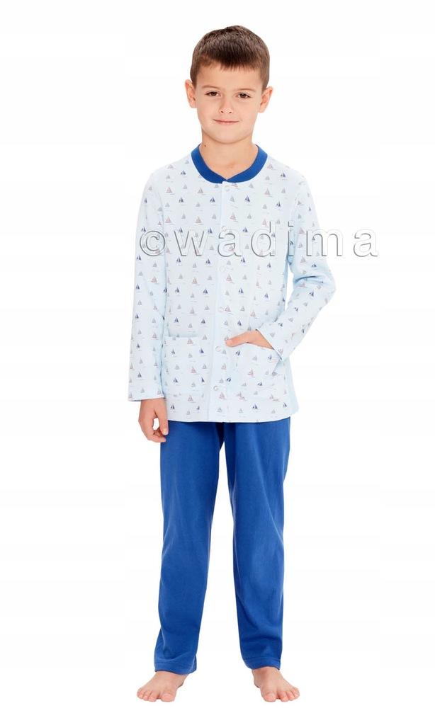 Piżama chłopięca rozpinana wzór,dł. rękaw spodnie