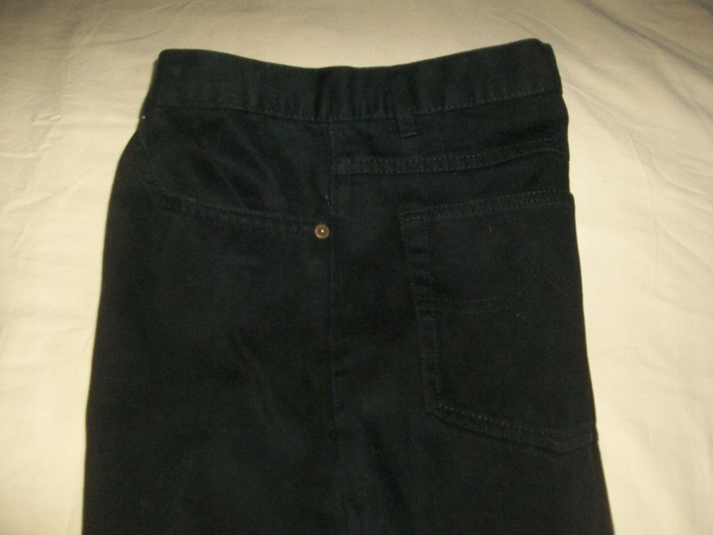 SPODNIE męskie 40/32 jeans YOUKON czarne pas102