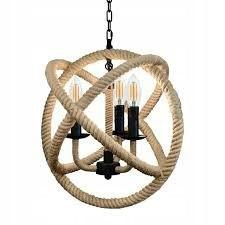 Lampa wisząca żyrandol BOSMANN globe retro sznur m