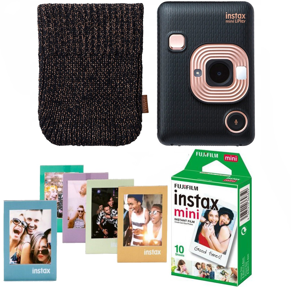 Fujifilm Instax Mini LiPlay BLACK - ZESTAW