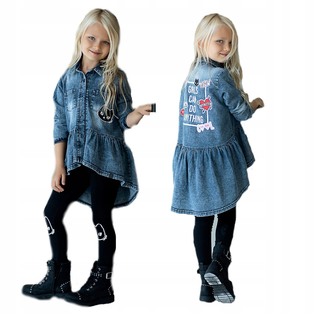 JEANS tunika i getry 2w1 140 146 ALL FOR KIDS