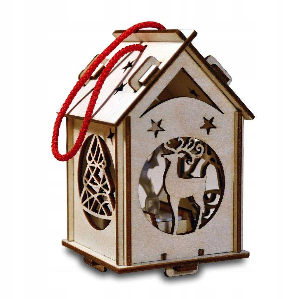 Lampion adwentowy lampka świąteczna roraty drewno
