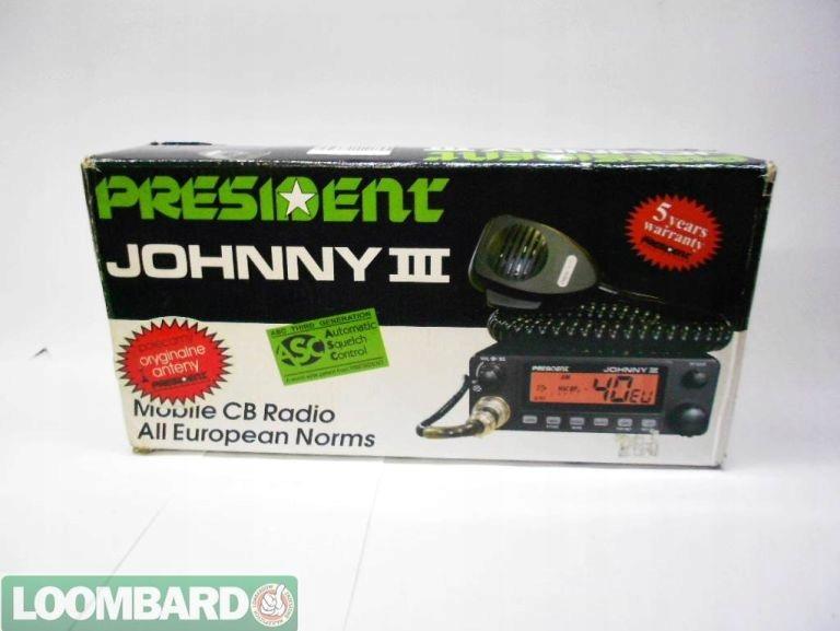 RADIO CB PRESIDENT JOHNNY 3 + ANTENA