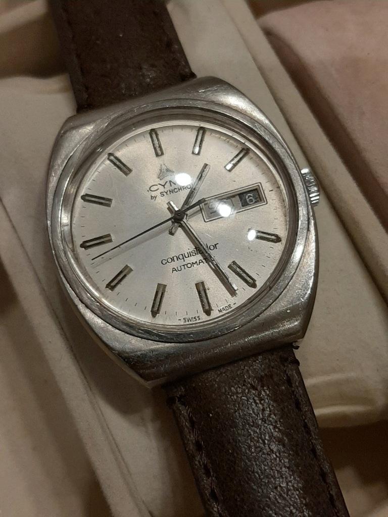 Zegarek męski automatyczny Cyma Conquistador