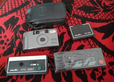 camera aparat zestaw Minolta Pocket Espio Pentax