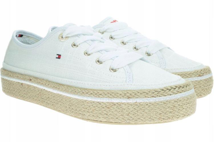 MODNE wygodne Białe Sneakersy TOMMY HILFIGER 38