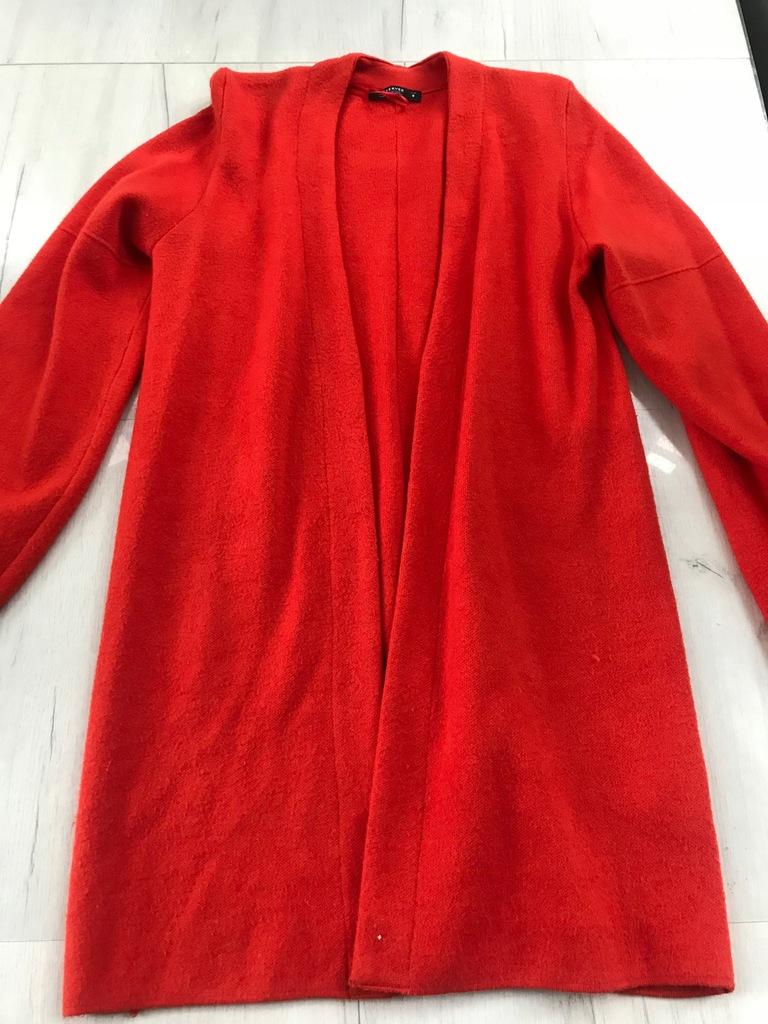RESERVED sweter narzutka czerwony wiosna M