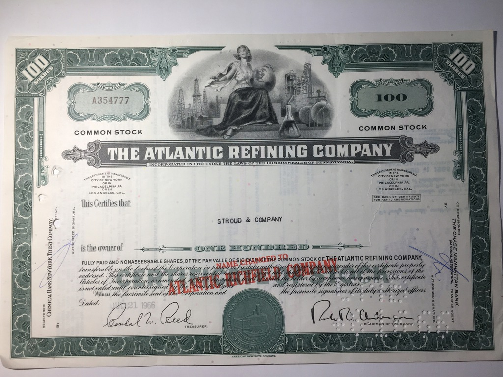 THE ATLANTIC REFINING COMPANY