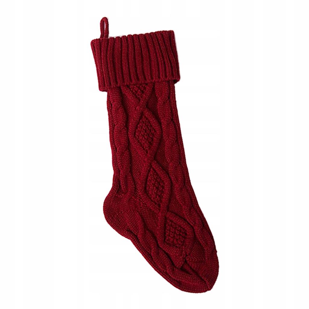 Pończochy świąteczne - Czerwony 37 cm