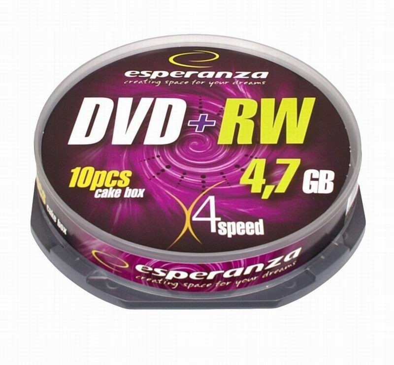 ESPERANZA Płyta DVD+RW 4,7GB x4 - Cake Box 10