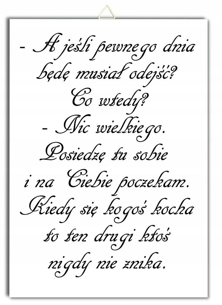 Plakat Cytat Miłość Tęsknota Kocha Razem Zawieszka