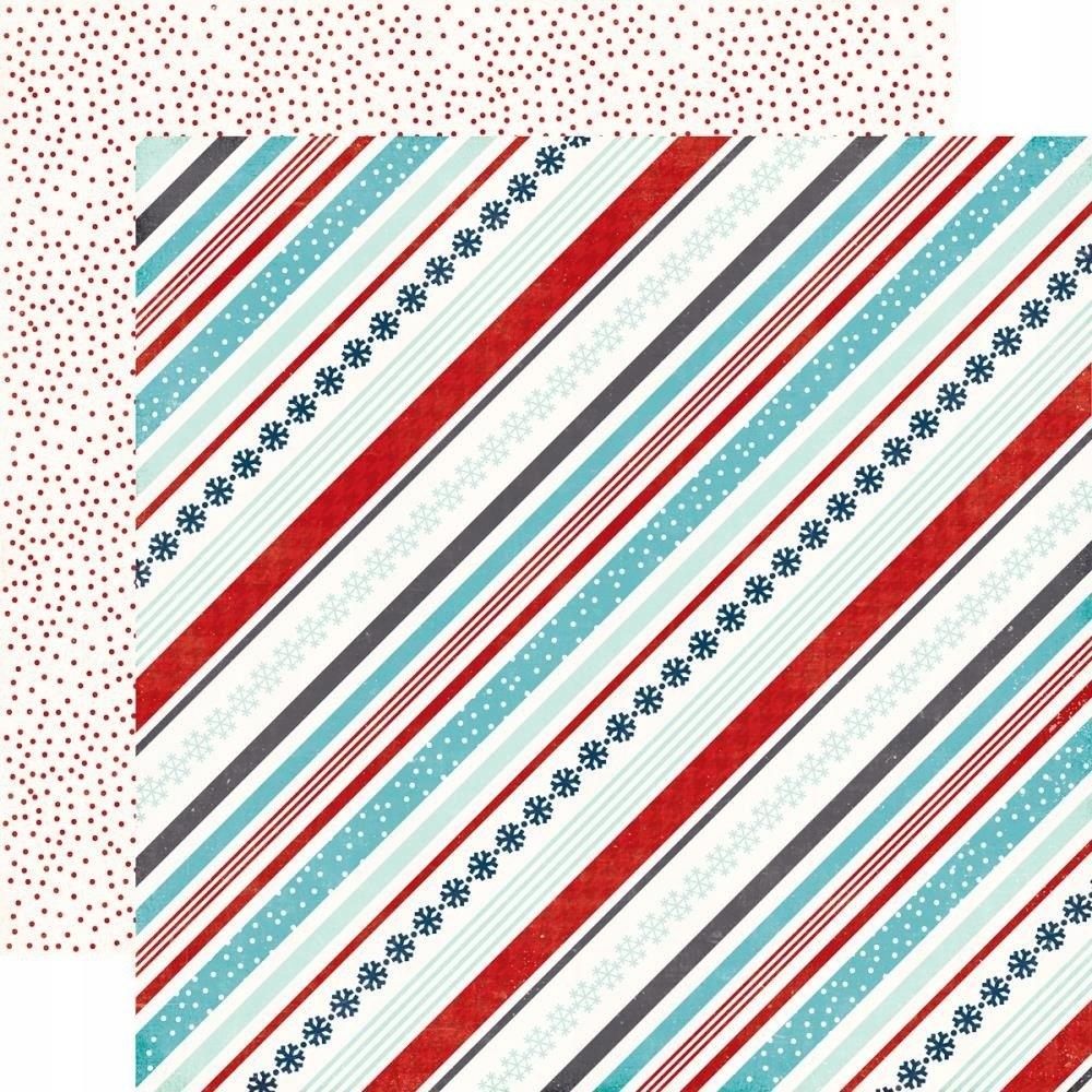 Papier 30x30 - Echo Park - Snowy Stripes