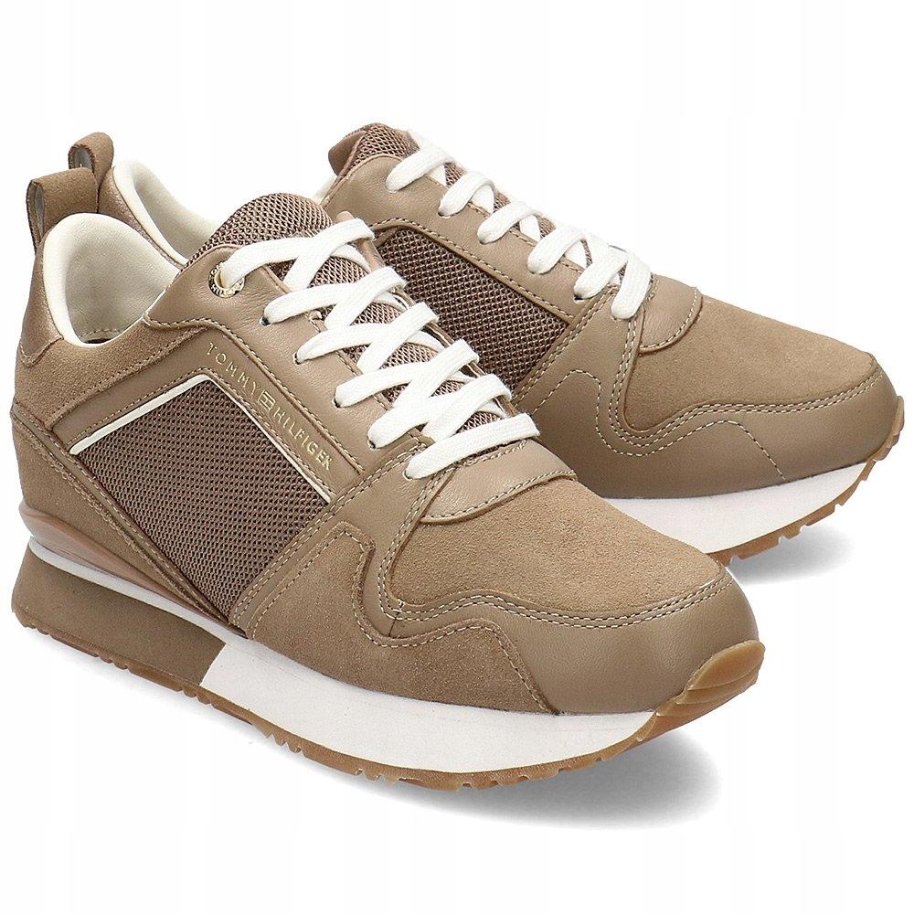 Tommy Hilfiger Beżowe Sneakersy Damskie R.36