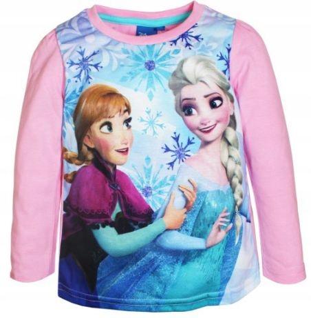 Bluzka długi rękaw KRAINA LODU 128 t-shirt Disney