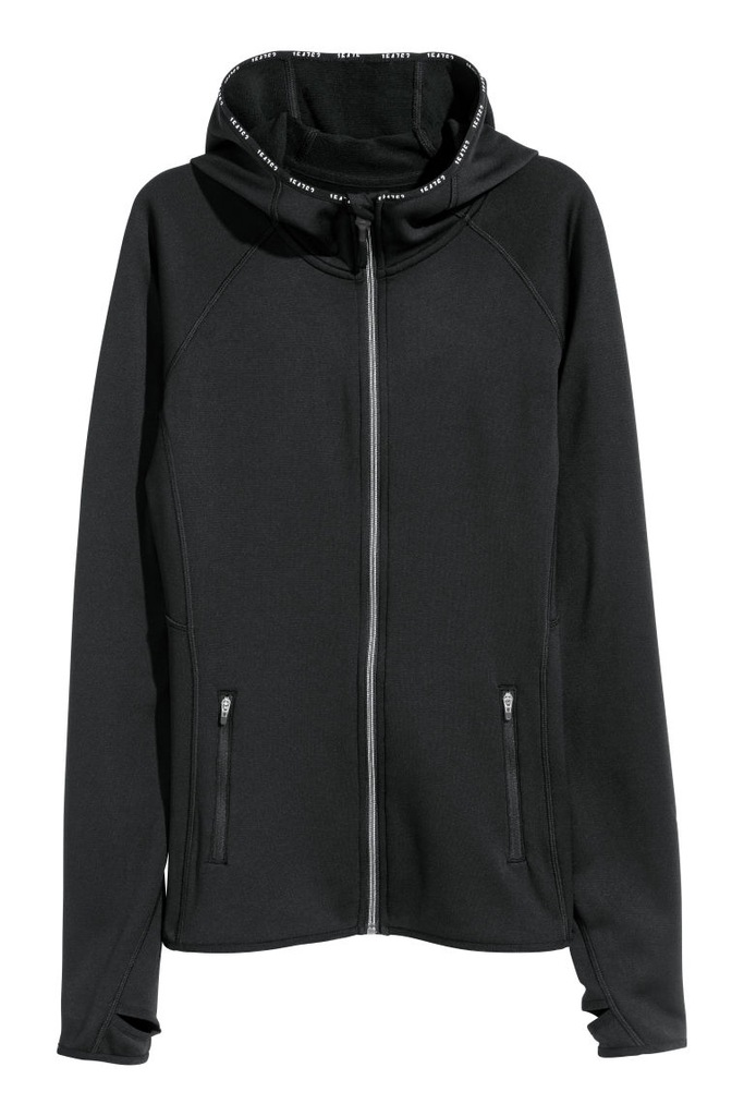hm sport damskie bluza czarna z kapturem