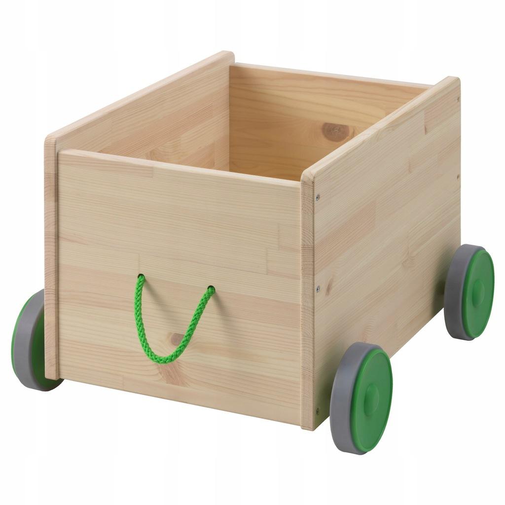 IKEA FLISAT Wózek Schowek na zabawki na kółkach
