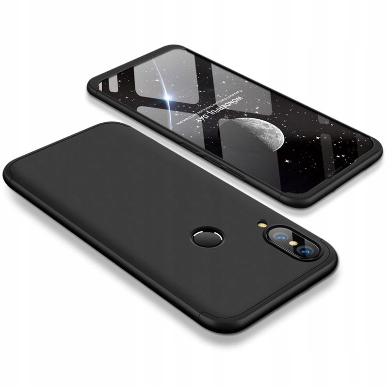 Case etui przód + tył Huawei P20 Lite czarny