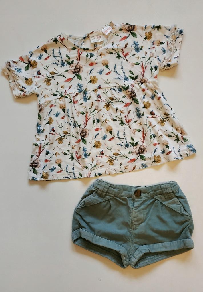 ZARA_r.92 bluzka i szorty sztruks newbie HIT