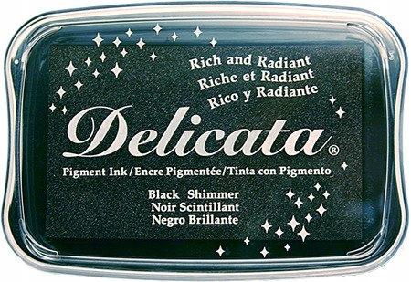 Tusz metaliczny Delicata - Black Shimmer - czarny