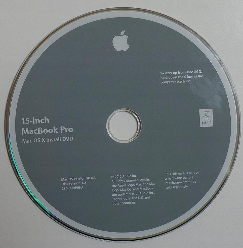 15-INCH MACBOOK PRO - MAC OS X 10.6.3