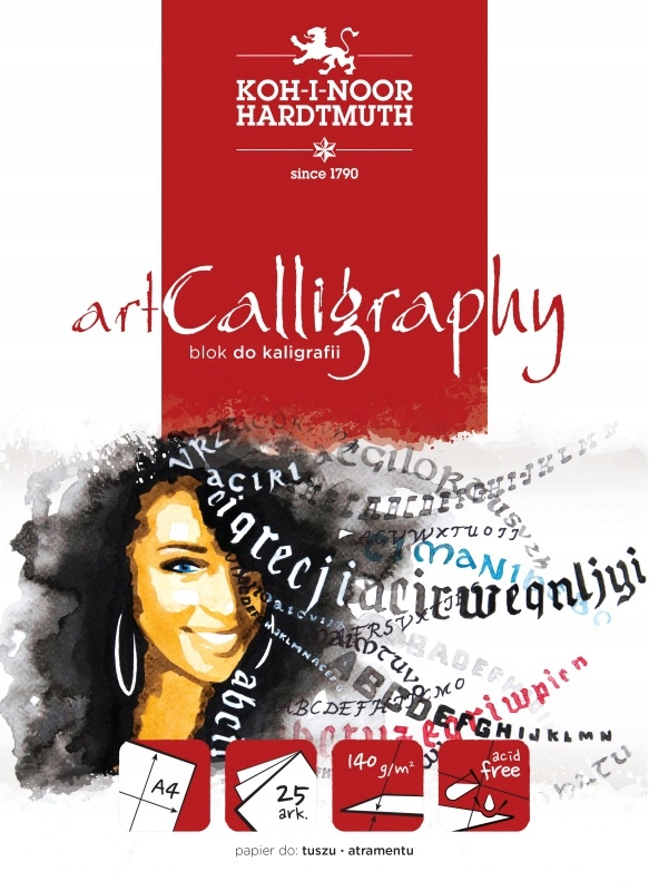 BLOK DO KALIGRAFII KOH-I-NOOR ART CALLIGRAPHY A4..