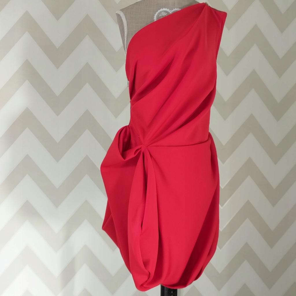 Asymetryczna sukienka RIVER ISLAND czerwona 36/38