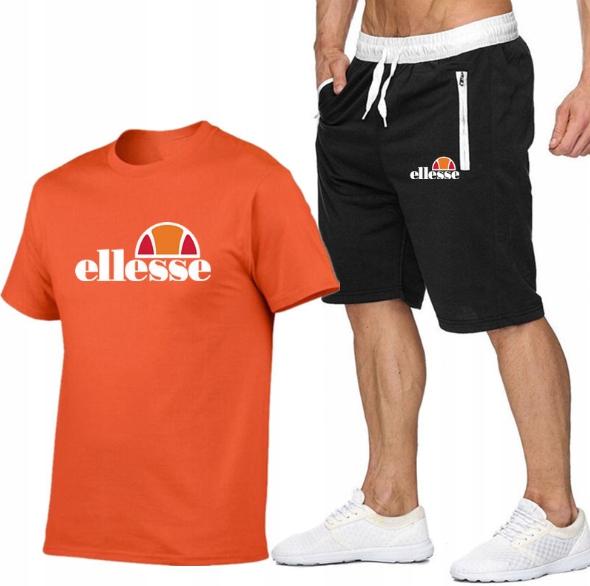 T-shirt POMARAŃCZOWY+ Spodenki Ellesse R L MPA MOD