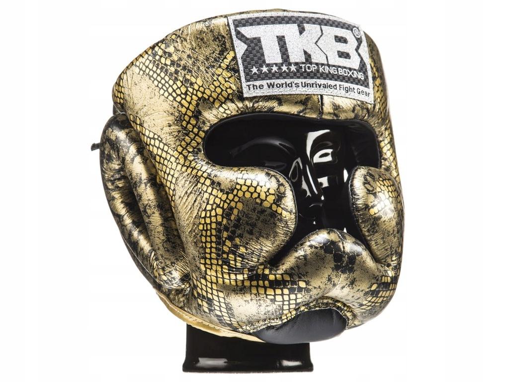 KASK BOKSERSKI TOP KING TKHGSS-02BK_GD gold - L